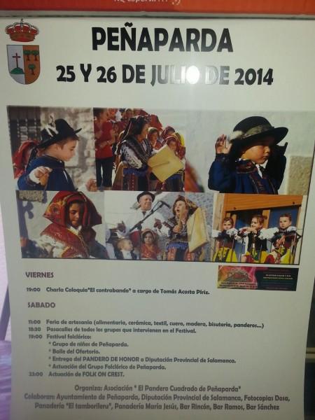 Fiesta del pandero 2014. 25 y 26 de julio